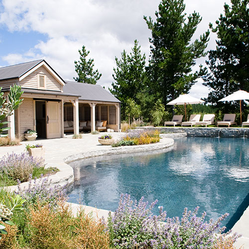 Residential Backyard Pool Landscaping